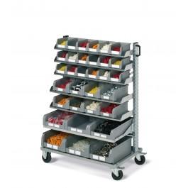 Bakkenwagen 1-zijdig met 32 bakken