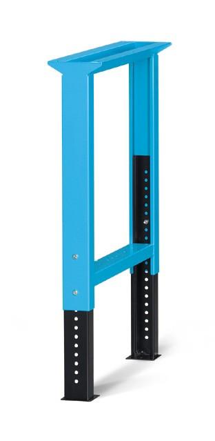 In hoogte verstelbare werkbankbrugpoot - Afm: 80x715x700/1100mmH