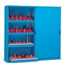 CNC kast met schuifdeuren 600mmD - 800kg draagvermogen - Afmetingen: 2046x600x2000mmH