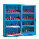 CNC kast met plexiglas deuren 555mmD - 800kg draagvermogen - Afmetingen: 2046x600x2000mmH