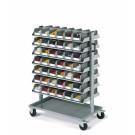 Bakkenwagen 2-zijdig  met 84 bakken